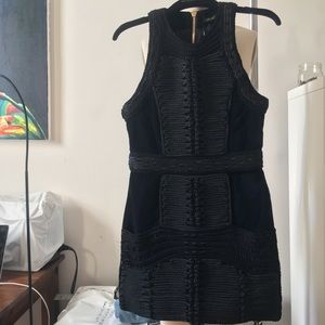 H&M x BALMAIN VELVET BRAIDED DRESS NWT